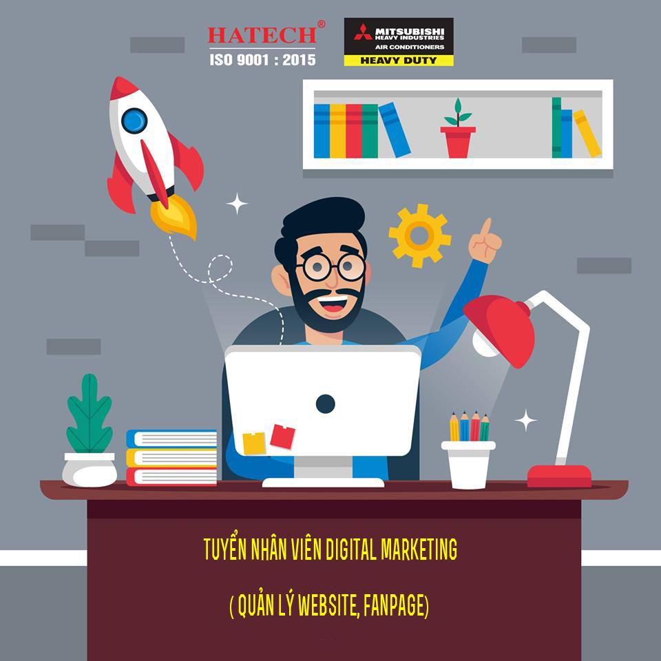 Tuyển nhân viên Digital Marketing (Quản lý Website, Fanpage)